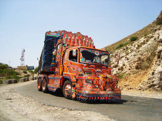 Beautifully Decorated Lorry by SaimGraphics