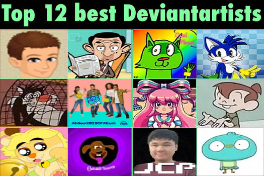 Top 12 Favorite Deviantartists