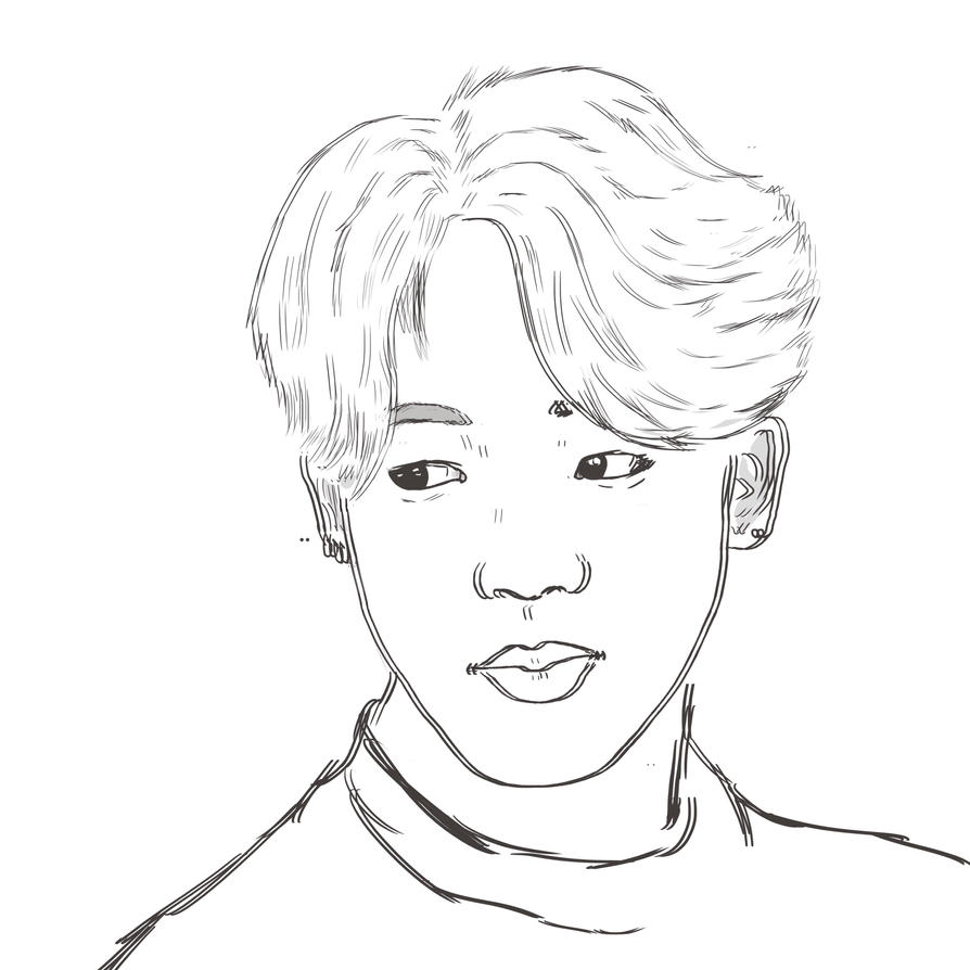 Jimin Drawing By AnionXedion On DeviantArt