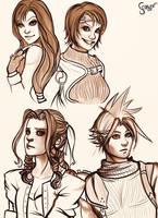Final fantasy 7 sketch by ScarlettIwater