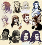 Final fantasy 8 sketch collage by ScarlettIwater