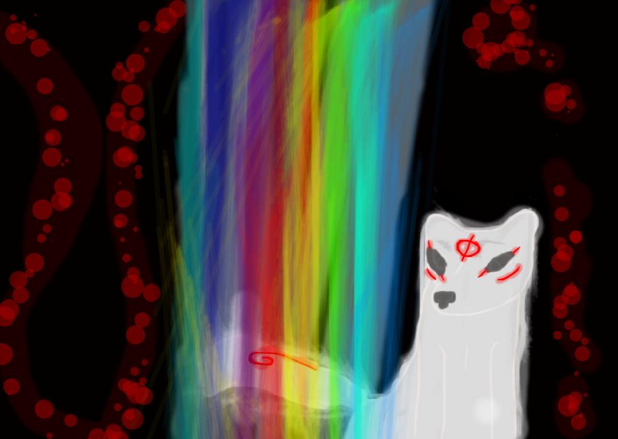 Rainbow waterfall by HOAFan