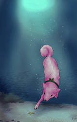 Dive, Canine YCH (Haru)