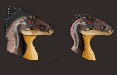 Male JP3 raptors (feathered vs original)