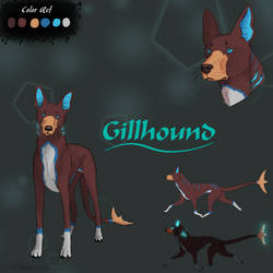 [Original Species] Gillhound Reference sheet