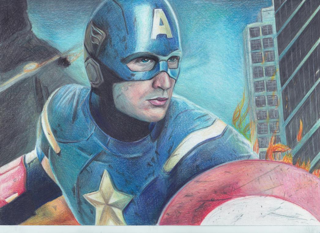 Captain America by Bubbeeelz