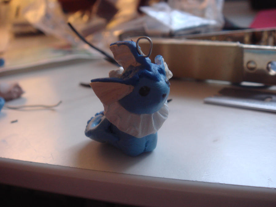 Vaporeon in clay by KittyAzura