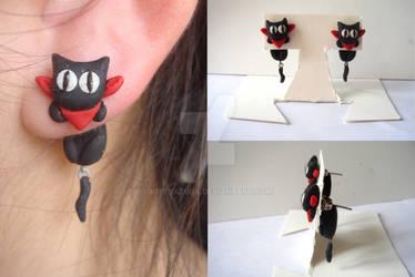 Clinging Sakamoto Earrings prototype
