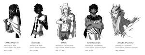lFdlM. Personnages by Kazuoh