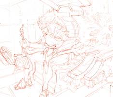 Conqueror - Ti Arex - drawing