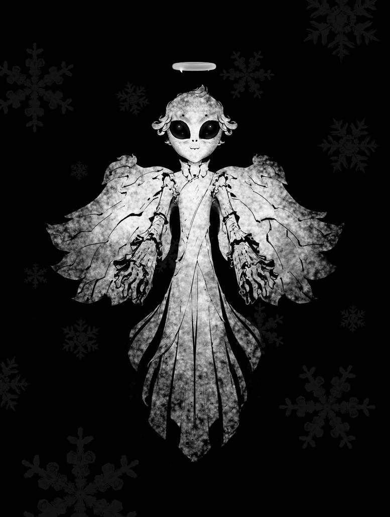 Alien Christmas Angel by KeanKennedy