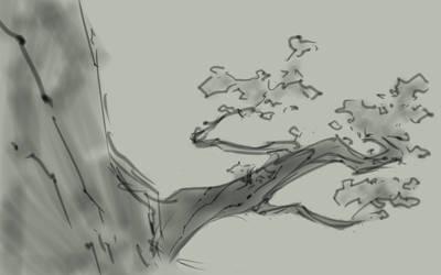 Sketchbook app 15 minute challenge - tree
