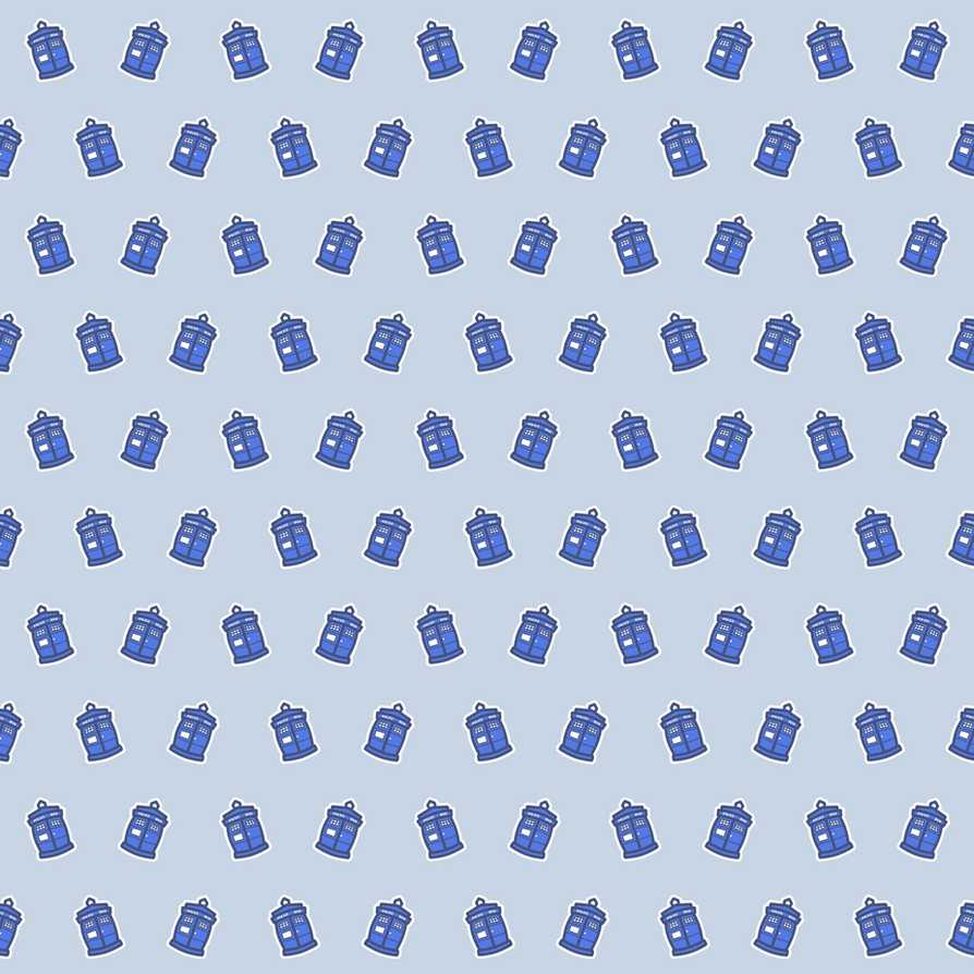 Cute TARDIS Pattern Stock by squidlarkin on deviantART