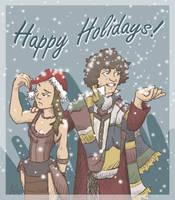 DW: Happy Holidays by squidlarkin
