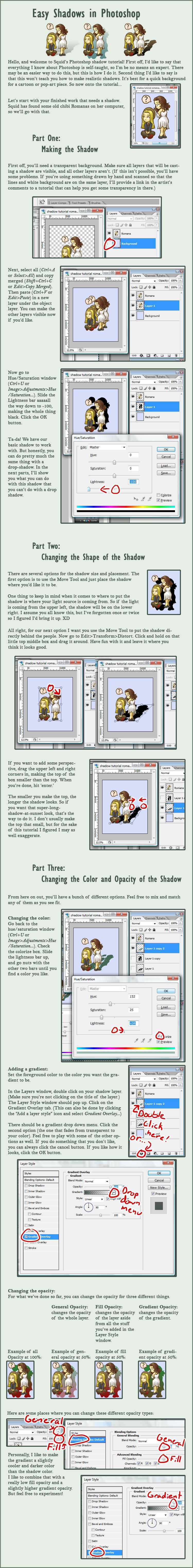 Easy Shadows in Photoshop by squidlarkin