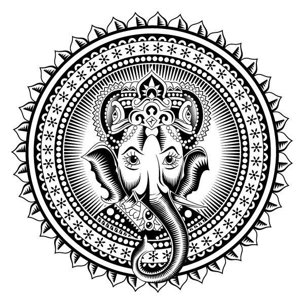 Line Art Vinayagar : Ganesha by lisak on deviantart