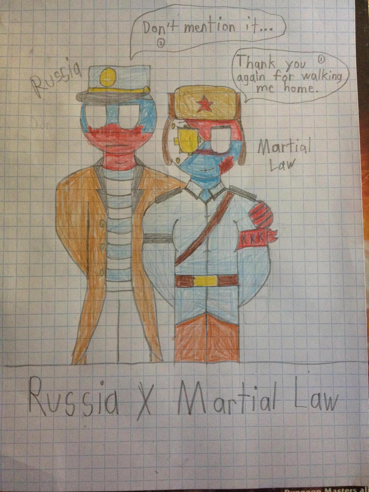 Countryhumans Russia X Martial Law By Legobronyclockwork On
