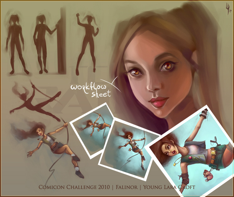 Young Lara Croft by falinor4eg