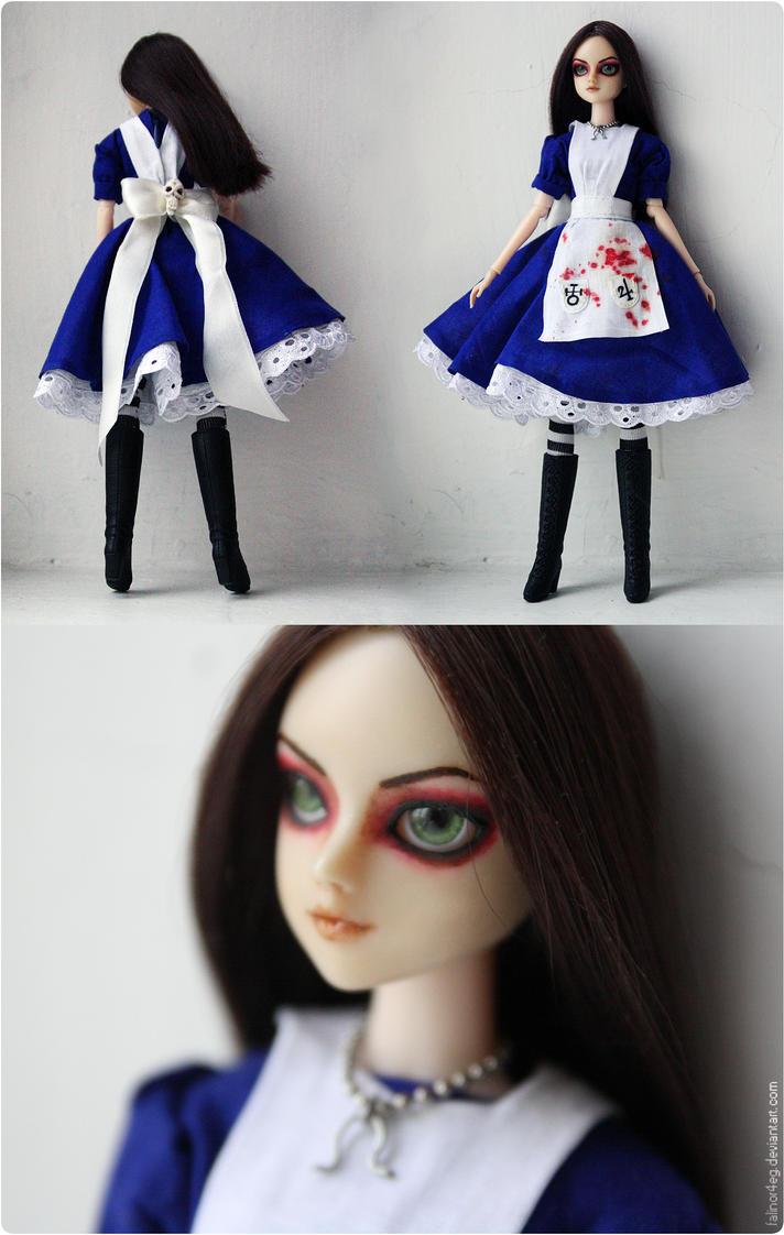 Alice Madness Return Custom OOAK Doll Final by falinor4eg