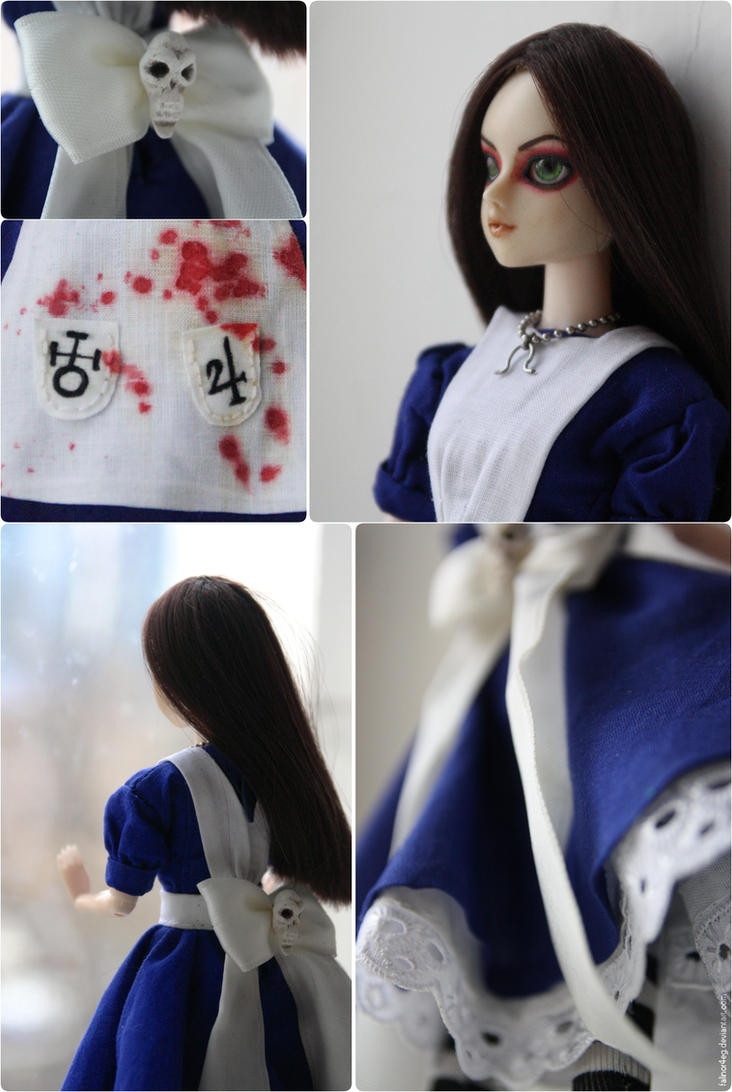 Alice Madness Return Custom OOAK Doll Final by falinor4eg