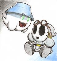 Boo x Shy Guy 1 by GeoPyro