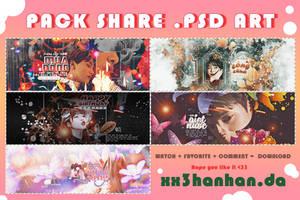PACK SHARE PSD ARTWORK by xx3hanhan