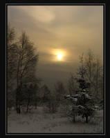winter sunset by Eikka