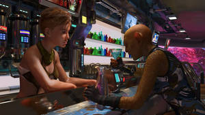 Meeting at the Spacestation Bar