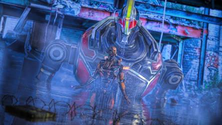 The Robot Rises by armieri