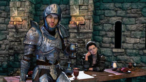 A Knight At The Table by armieri