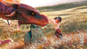The Little Girl and the Dragon by armieri