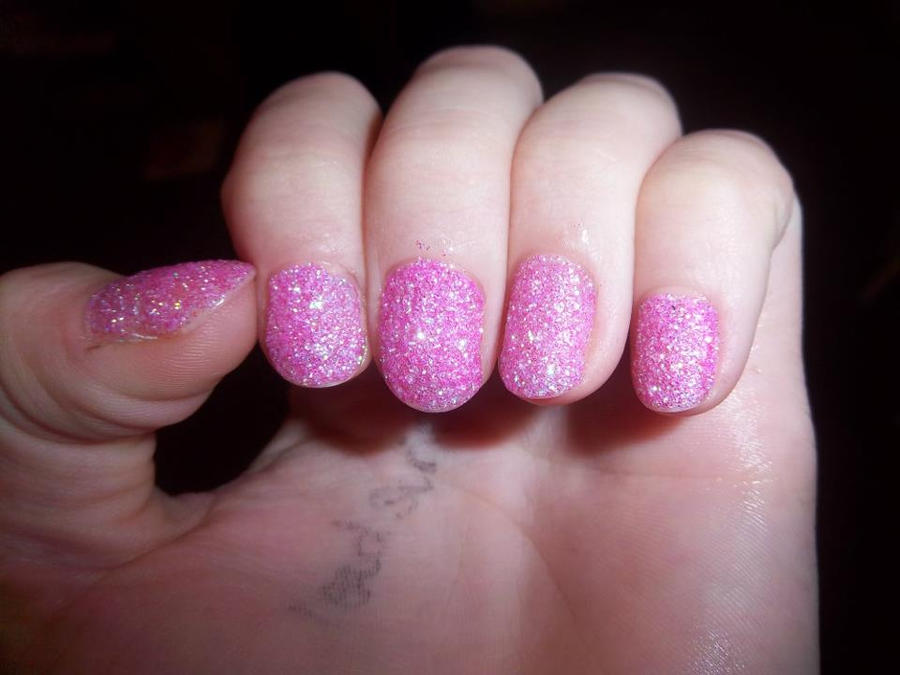 Pink Glitter Dipped Nails by Lolabri on DeviantArt