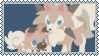 Rockruff And Lycanroc Fan Stamp  by StantheGamingdog