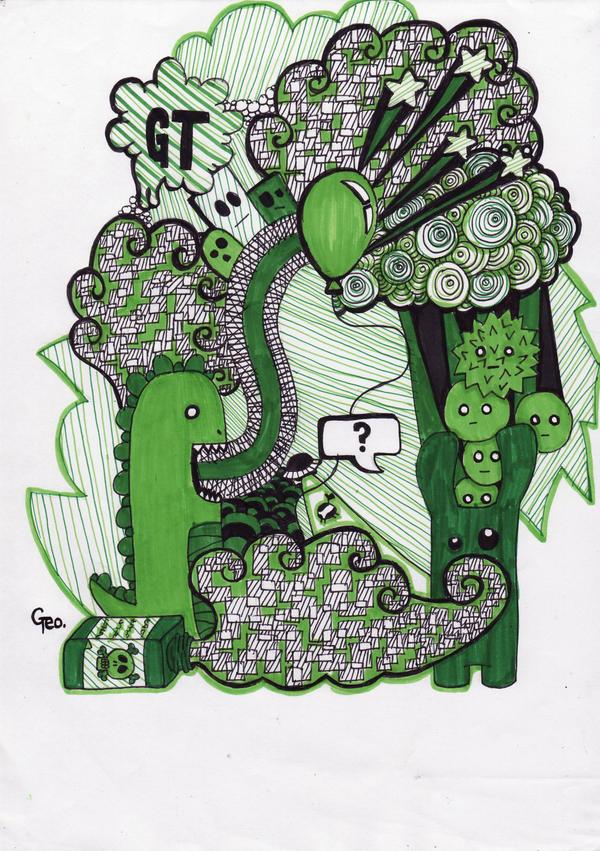PoisonBottles + DinosaurSick by Geo-Zombie
