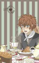 Tea time with Ginger haired boy by ha-kim