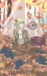 Messy autumn leaves by ha-kim