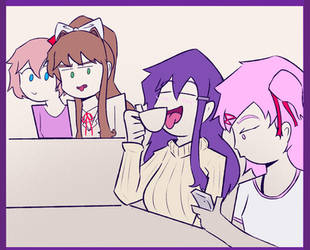 Yuri, That's NOT How You Drink Tea by LCRdrawings