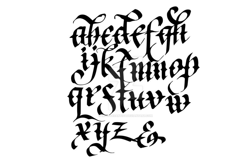 Calligraphy Alphabet Sample The Image