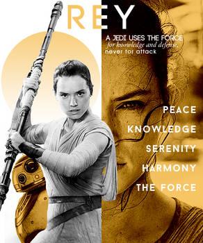 Rey Fan Poster
