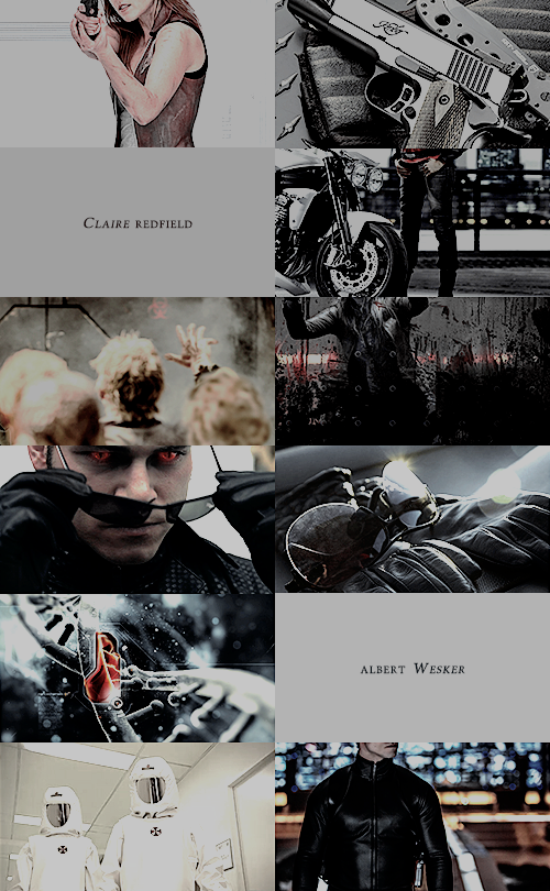 Resident Evil Moviverse   Wesker/Claire Aesthetics by mercscilla