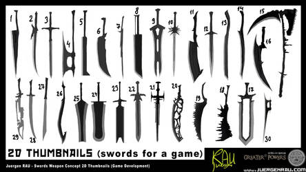 0100.2018.10.05. Game Swords Thumbs Greater Powers by juergenrauCOM