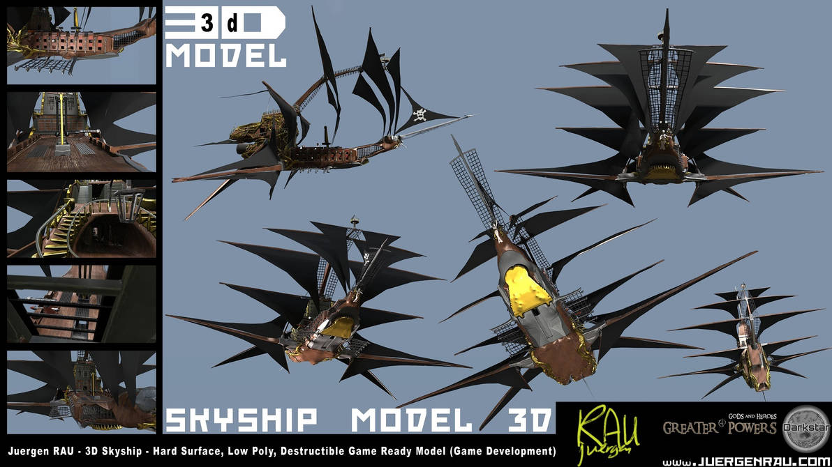 0104.2018.10.09. 3D Model Skyship Greater Powers by juergenrauCOM