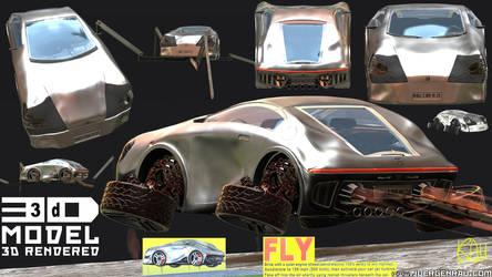 0112.2019.03.28. 3D model. Concept car 21. Design.