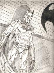 Batman Commission Sketch by JezabelPheonix