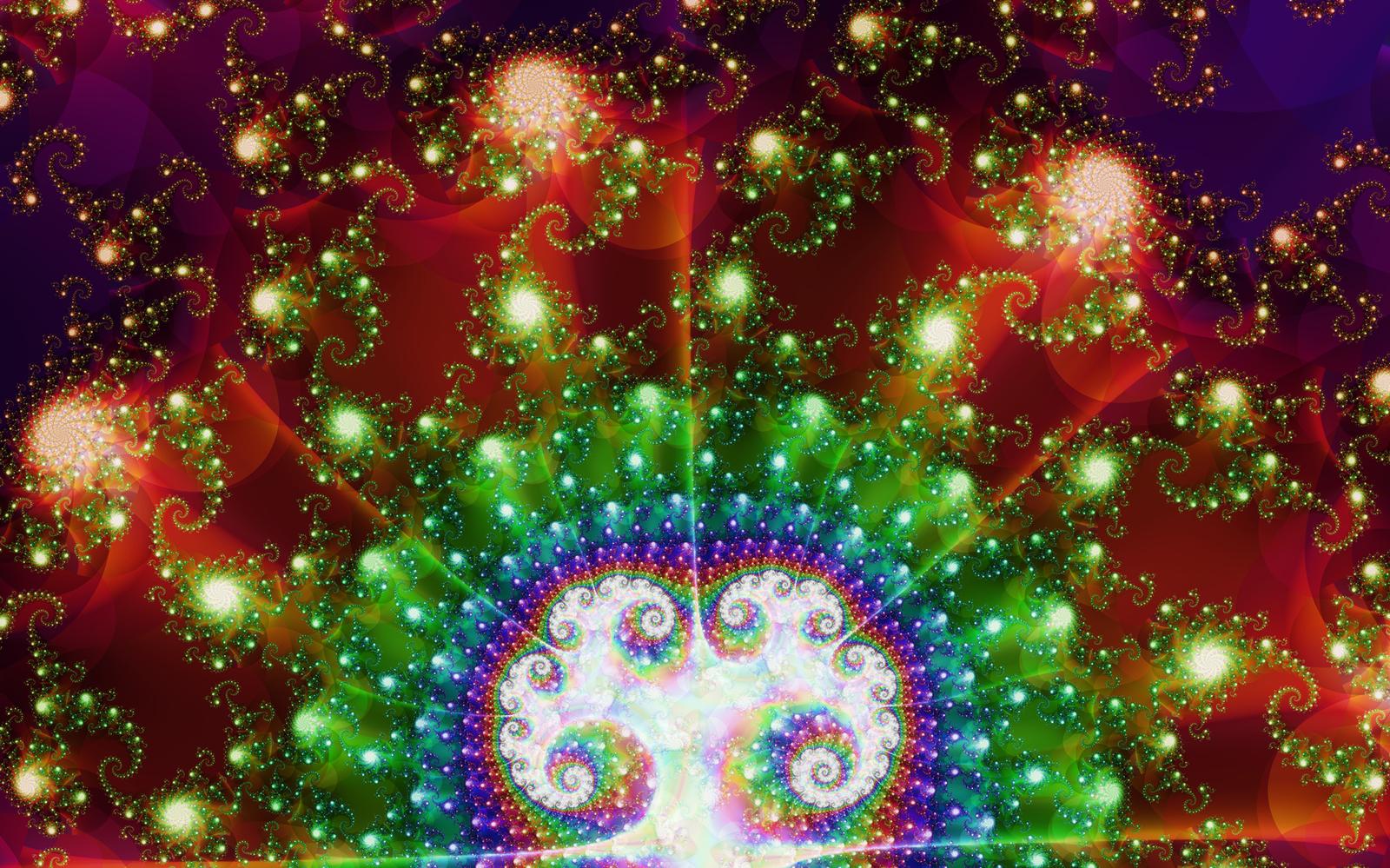 Tie-Dye Christmas Tree by UberMari0 on DeviantArt