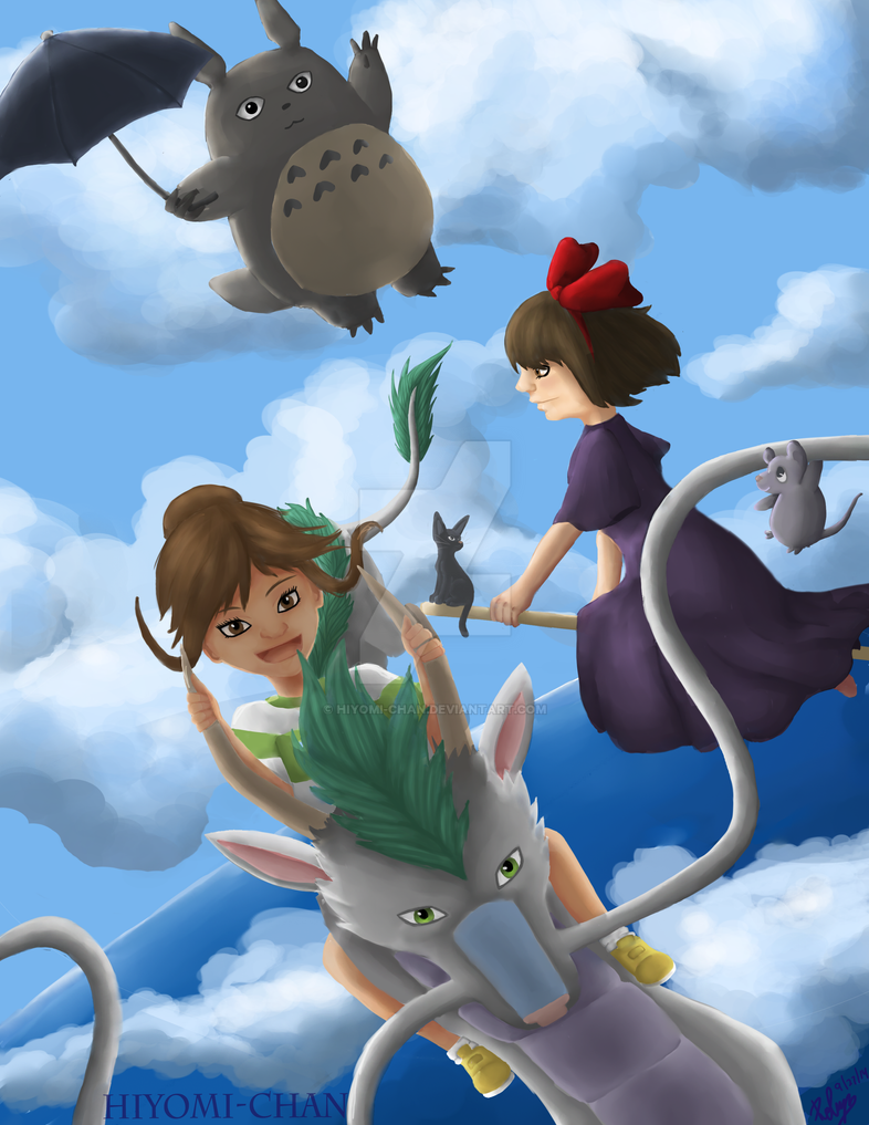 Studio Ghibli Fanart by Hiyomi-chan