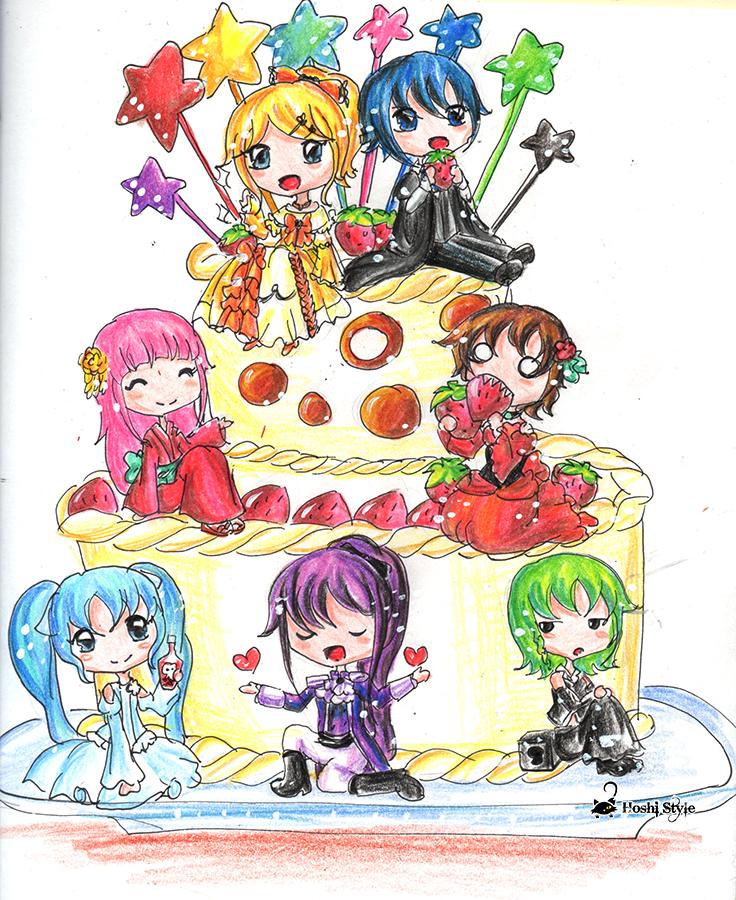 Birthday cake by Hoshi-Wolfgang-Hime
