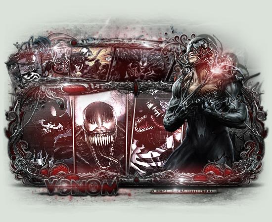 Jee Sama Galeria a minha pequnena galeira de bordas hehe Venom_by_jeesama-d5rsd4j
