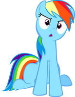 Rainbow Dash Confused (what the hay) by RaynebowCrash