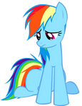 Sad Rainbow Dash